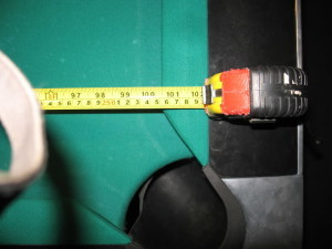 To determine pool table room size, measure your pool table play field.