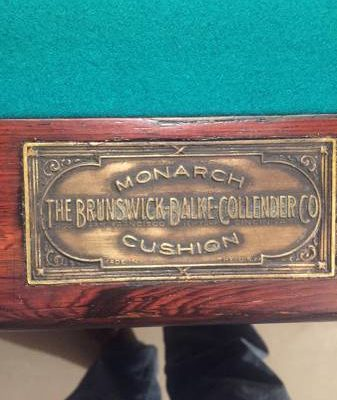 Restored 1923 Brunswick Pool Table