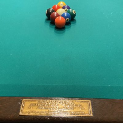Antique Brunswick-Balke Collender 9' Pool Table