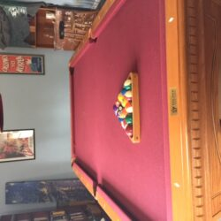 8' Beautiful Oak Fischer Pool Table
